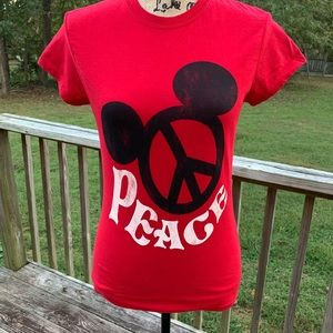 Women's Disney Micky Mouse Pease Top Size Large